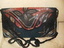 BLACK BEADED ENVELOPE/CLUTCH HANDBAG. BEAUTIFUL!!!! BRAND NEW