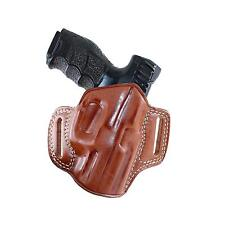 Premium Leather OWB Pancake Holster With Open Top Fits H&K P7 M8 #1028#