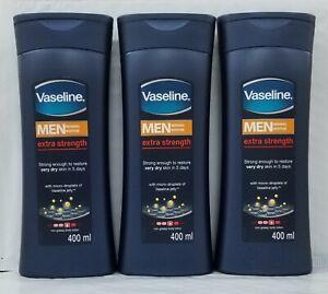 3-Vaseline Men Reparing Moisture Extra Strength Lotion - 400ml-each