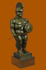 Fernando Botero Handcrafted Roman Warrior Bronze Masterpiece Sculpture Statue