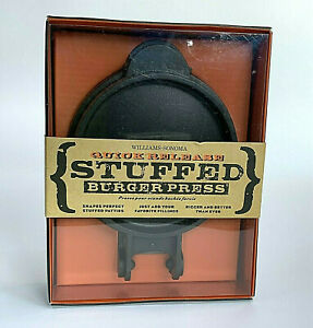 Williams-Sonoma Stuffed Burger Press Quick Release Dishwasher Safe New inPackage