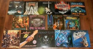 14x Vinyl: Crimson Glory - Twisted Sisters - Stormwitch u.a. - guter Zustand