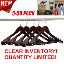 Wide Shoulder Wooden Suit,Coats,Pants,Skirts Clothes Hangers, Hardwood Hanger BP
