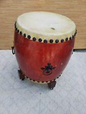 Japanese Traditional Taiko Drum Large Wood Antique 1.5shaku