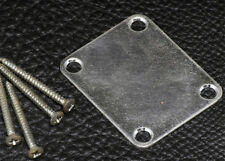 4 Hole Neck plate for Guitar • Aged Chrome NBS-3 Relic Neckplate