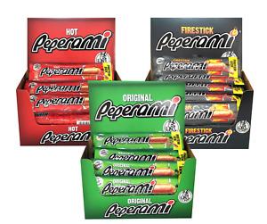 Peperami - Original, Hot, Firestick Boxes 12/24 sticks x 22.5g Protein snack