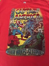 Marvel Vintage Captain America Comic T-shirt When Wakes The Sleeper XXL
