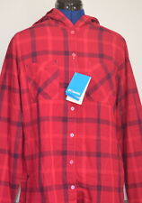 COLUMBIA Meander Women's Hooded Flannel Long Sleeve Shirt (Red) Medium