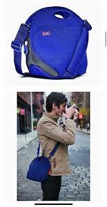 EUC BUILT Medium Blue Cargo Camera Bag Crossbody Neoprene Polyester