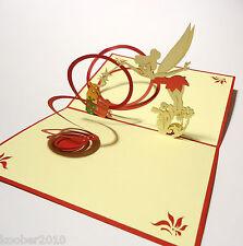 Elfe mit Zauberstab , 3D POP UP Karte, Geburtstag, Klappkarte, Glückwunschkarte