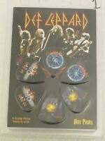 Def Leppard Officially Licensed Guitar 6 Pack of Picks Collectable Perri's #1