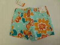 Gymboree Shorts Girls Size 5 Adjustable Waist Floral Woven Shorts New