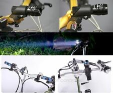 CREE Q5 240 Bike LED Flashlight Torch Front Head Light With Mount For Outdoor