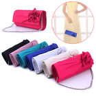 Elegant Women Evening Party Clutch Chain Bag Wallet Satin Prom Wedding Handbag