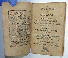 MINIATURE New History Of Blue Beard Written By Gaffer Black Beard WOODCUTS 1810