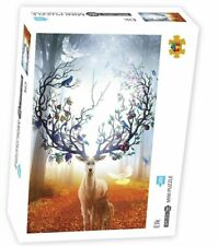 Jigsaw Puzzle 1000 Pieces Picture Deer Nature Forest Educational Adults Children