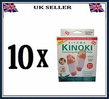 100 PATCHES KINOKI DETOX FOOT PADS Remove Body Toxins WEIGHT LOSS stress relief