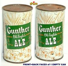 1950's Green Gunther Old English Ale Flat Top Beer Can Baltimore,Md.Maryland Tin