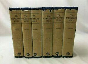COMPLETE 6 VOLUME SET The Expositor's Bible by W. Robertson Nicoll 1943 HCDJ