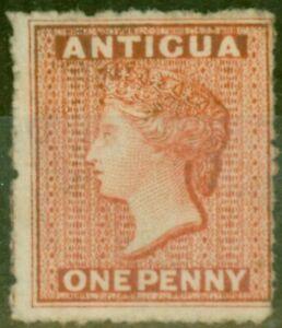 Antigua 1867 1d Vermilion SG7 Fine & Fresh Unused