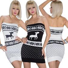 Kurze Damenkleider mit Norweger-Muster