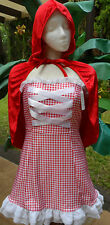 Dreamgirl Reversible Short Sexy Dorothy or Red Riding Hood Costumes w/Basket Sm