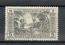 Nouvelles Hebrides (New Hebrides) QEII 1957 5f black SG F106 used