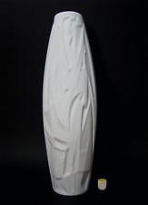 Op art relief White porcelain jarrón, Cuno Fischer, Rosenthal Studio-Línea, 1960s