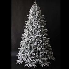Albero di Natale 240 cm Carpino Bianco innevato neve artificiale riproduzione