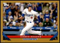Corey Seager 2019 Topps Archives 5x7 Gold #267 /10 Dodgers