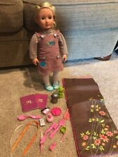 """LOT Of Our Generation 18"""" DOLL & OUTFIT & Accessories - Sleeping Bag"""
