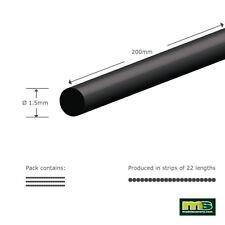 Modelscenery mse201 3 x (fait 66 x 200mm) 1,5 mm rond forme modélisation en plastique