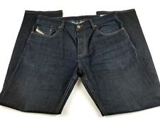 Diesel Larkee Men's 34x30 Relaxed Comfort Straight Button Fly Jeans