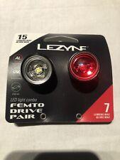 Lezyne Femto Drive Pair LED Cycle Light Front Rear - Black