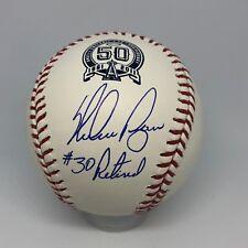Nolan Ryan signed Rawlings Angels 50th Anniversary baseball inscribed HOF A85
