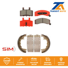 Front Rear Semi-Matllic Brake Pad And Drum Shoes Kit For 1999 Dodge Ram 2500