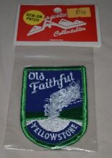 VTG New Embroidered YELLOWSTONE OLD FAITHFUL Souvenir Cloth Badge Patch