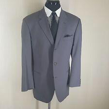 HUGO BOSS Vintage (1980'S) Gray Wool Blazer 3 Btn No Vents   44 L Fit 46 Long