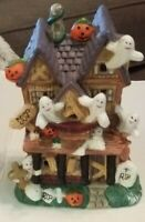 Miniature Halloween Haunted Ceramic House
