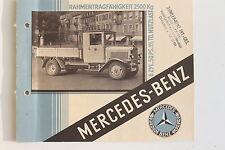23626 Werbe Prospekt Mercedes Benz LKW 6 Zyl. 50 PS 1929