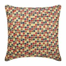 """Multi Couch Cushion Cover 20""""x20"""" Luxury Silk, Dotted Sequins - Cheer Up"""