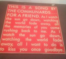 "COMMUNARDS For A Friend 12"" VINYL UK London 1988-buy 1 Get Another LP Free!"