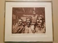 NAVAL AVIATOR PILOT ETCHING BY BILL ELLSWORTH LIMITED EDITION SIGNED, NUMBERED,