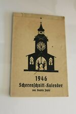 Scherenschnitt Kalender  von Januar - Dezember 1946 Postkarte ( 946