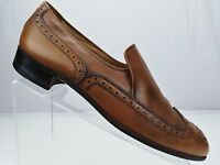 Bally Brogue Loafers - Brown Leather Wingtip Casual Party Shoes Men's Size 9.5