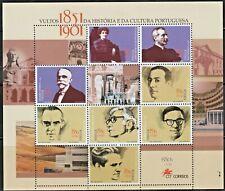 PORTUGAL-2001-Mini Sheet n.15-FAMOUS CULTURE PEOPLE-8 stamps-2735/42 MUNDIFIL
