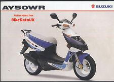 Genuine Suzuki AY50WR KATANA (1999 - >) concessionaria vendita BROCHURE AY 50 WR AG39