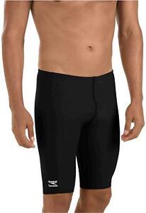 Speedo Male Jammer Swimsuit - Endurance- Polyester Solid, Speedo Black, Size 32