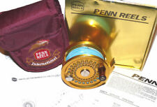 Penn International 2.5 Gold saltwater fly reel with box and line & case superb