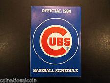 1984 Chicago Cubs schedule